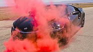 Using smoke grenades to understand Acura NSX aerodynamics