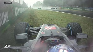 GP d'Italie - Le crash de Grosjean en vidéo