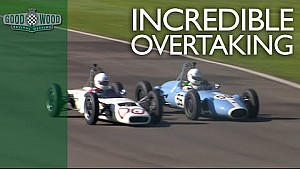 Awesome overtake leads to wild spin at Revival