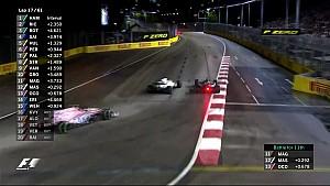 2017 Singapur GP -  Magnussen -Massa- Ocon Atakları