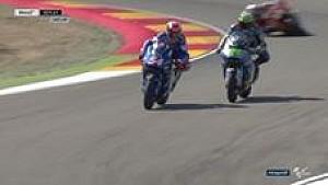 Aksi salip menyalip di putaran terakhir balapan Moto2 #AragonGP