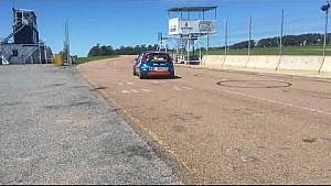 Santiago Urrutia pruebas en el Ford fiesta KD en pista