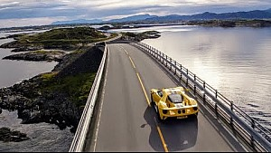 The Ford GT drives the iconic Atlantic ocean road in Norway (and tackles the Arctic circle raceway)