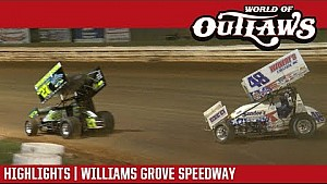World of Outlaws Craftsman sprint cars Williams Grove September 28, 2017 | Race 2 highlights