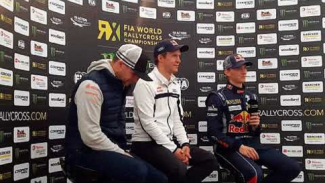 World RX Inside - Estering - Timmy Hansen - Press conference
