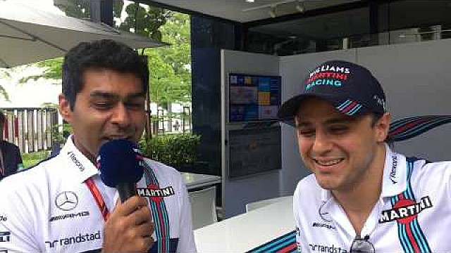 Williams TV: Karun Chandhok catches up with Felipe Massa ahead of the Malaysian GP