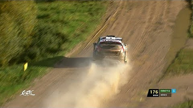 Liepaja Rally 2017 - Kajetanowicz on SS2 with data