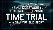 Aksi Kamui Kobayashi mengemudikan TS050 Hybrid
