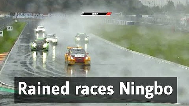 Rained races in Ningbo Tom Coronel in China for WTCC