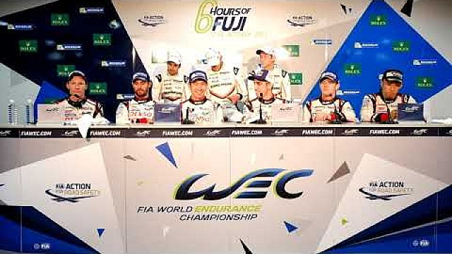 2017 WEC 6 hours of Fuji - Overall winners press conference