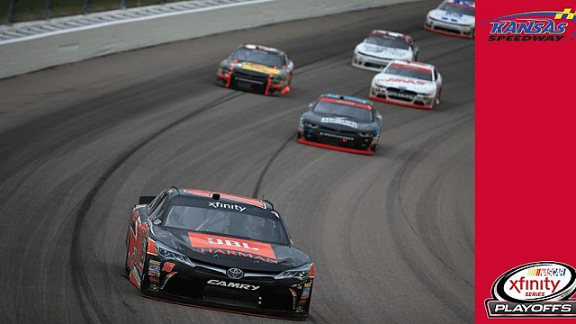 Bell claims first win, playoffs drivers have trouble at Kansas