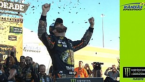 Truex, No. 78 crew celebrates bittersweet win
