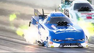 It was a wild ride for John Force and Jim Campbell in qualifying in Vegas