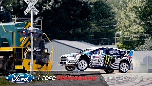 Ken Block's Gymkhana nine extended cut: Train attack | Ford Performance