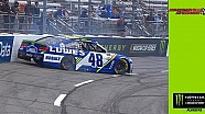 Jimmie Johnson spins during Martinsville qualifying