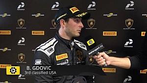 Lamborghini Super Trofeo Round 6 USA Race 2 - Interview with Brandon Gdovic