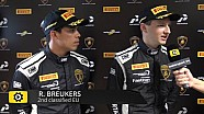 Lamborghini Super Trofeo Round 6 Europe Race 2 - Interview with Breukers and Jefferies