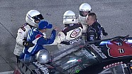 Elliott Sadler confronts Ryan Preece on pit road in Miami