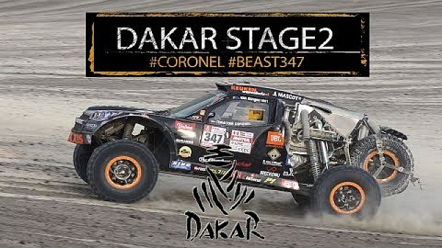 Tim en Tom Coronel in de Dakar 2018: Etappe 2