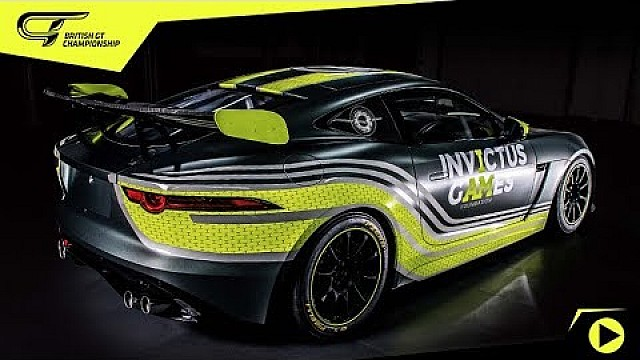 New invictus games racing Jaguar F-Type SVR GT4