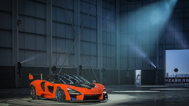 The McLaren Senna laying down rubber at the new McLaren Composites Technology Centre