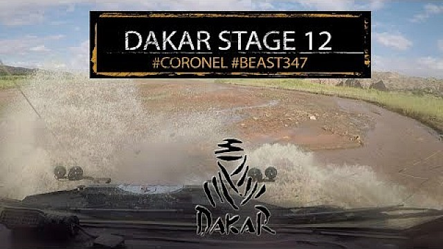 Tim en Tom Coronel in de Dakar - Etappe 12