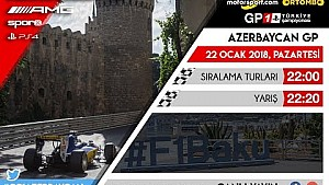 F1 2017 GP1 Türkiye Şampiyonası #7 Azerbaycan GP - CANLI YAYIN