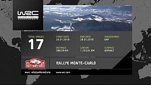 Las 17 etapas del Rally Monte Carlo 2018