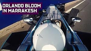 Orlando Bloom crashes Formula E Car In Marrakesh!