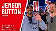 Button viert verjaardag met Ricciardo