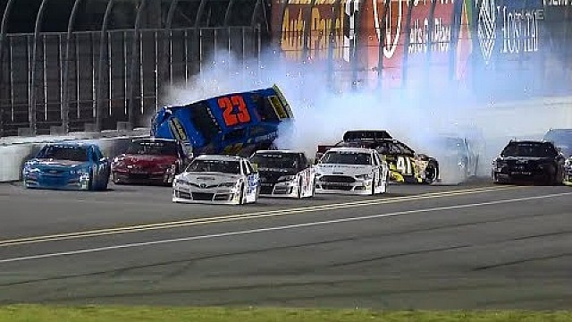 Bret Holmes goes airborne in massive crash - ARCA Daytona