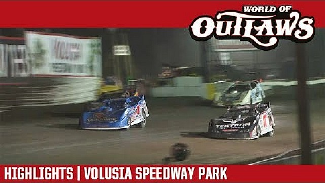World of Outlaws Craftsman late models Volusia speedway park February 15th, 2018 | Highlights