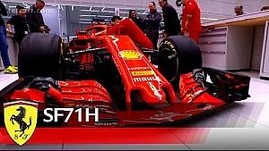 フェラーリSF71-H - ステッカー貼り作業