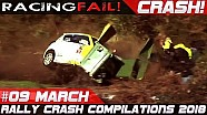 Racing and rally crash compilation week 9 March 2018 | Racingfail