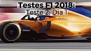 Testes F1 2018: Teste 2, Dia 1