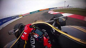 Visor cam: James Hinchcliffe at the 2018 Firestone Grand Prix of St  Petersburg practice 3