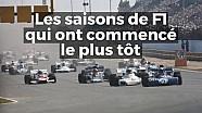 Les saisons de F1 qui ont débuté le plus tôt