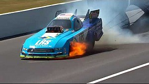 Tim Wilkerson has a wild trip down the track in Gainesville