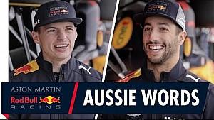 Daniel Ricciardo and Max Verstappen play Australian Word games
