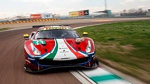 Ferrari 488 GTE, shakedown a Fiorano
