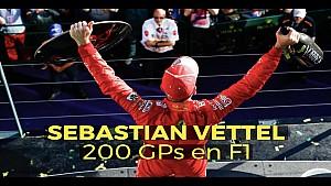 Vettel cumple 200 carreras en la Fórmula 1