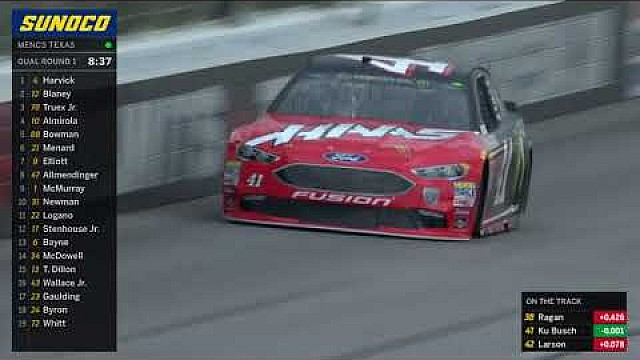 2018 Kurt Busch on the pole at Texas Motor speedway