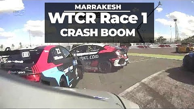 Race 1 crash boom, WTCR Marrakesh first race for Tom Coronel and Boutsen Ginion racing
