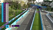 Rome E-Prix cable camera views - Saturday morning