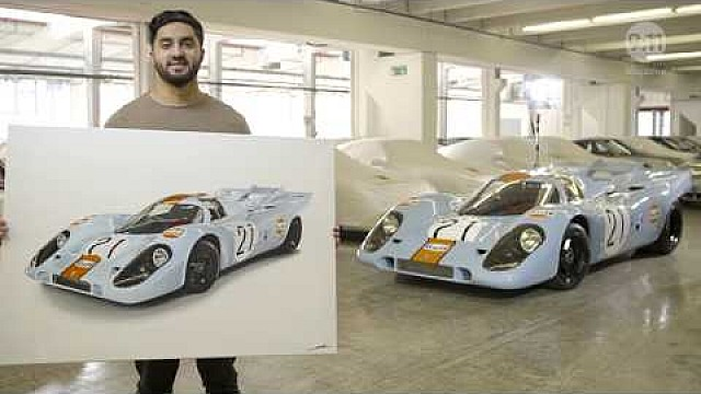 9:11 magazine: a Porsche 917 on canvas