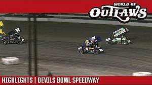 World of Outlaws Craftsman sprint cars Devils Bowl speedway April 28, 2018 | Highlights