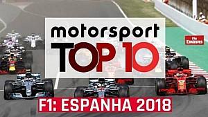 VÍDEO: Top 10 GP da Espanha 2018