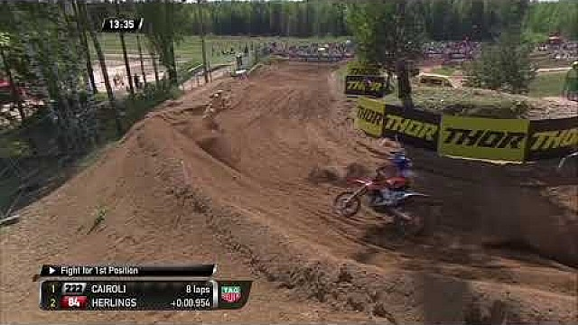 Jeffrey Herlings vs. Antonio Cairoli - MXGP Carrera 1 - MXGP de Letonia 2018