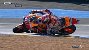 Marc Marquez terjatuh di FP3 | MotoGP Prancis 2018