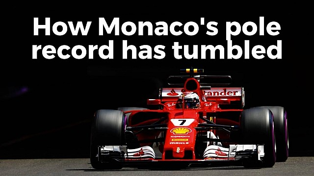 Monaco F1 pole records